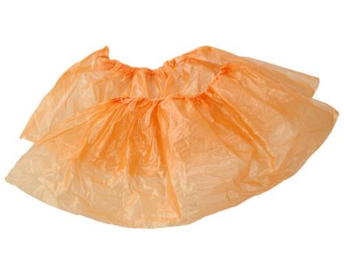 Бахилы детские  оранжевые  18 мкм